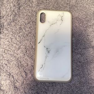 Grey and white marble iPhone case